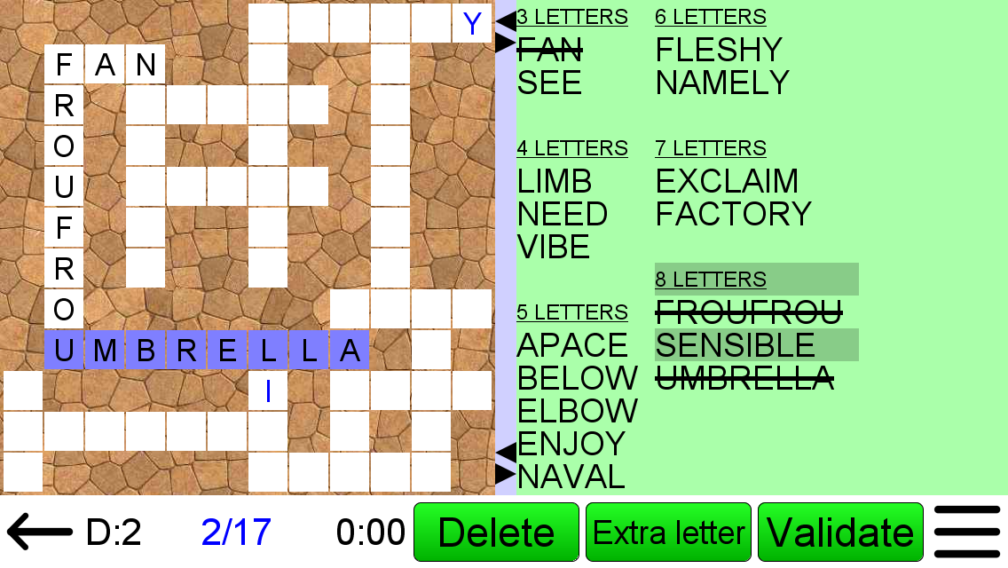 Word Fit Puzzle Play Word Fill Ins Online